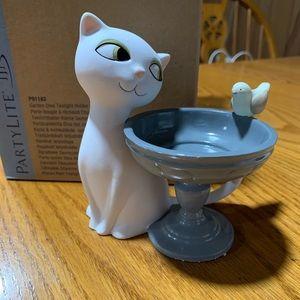 Partylite Garden Diva Tea light Holder NIB Cat